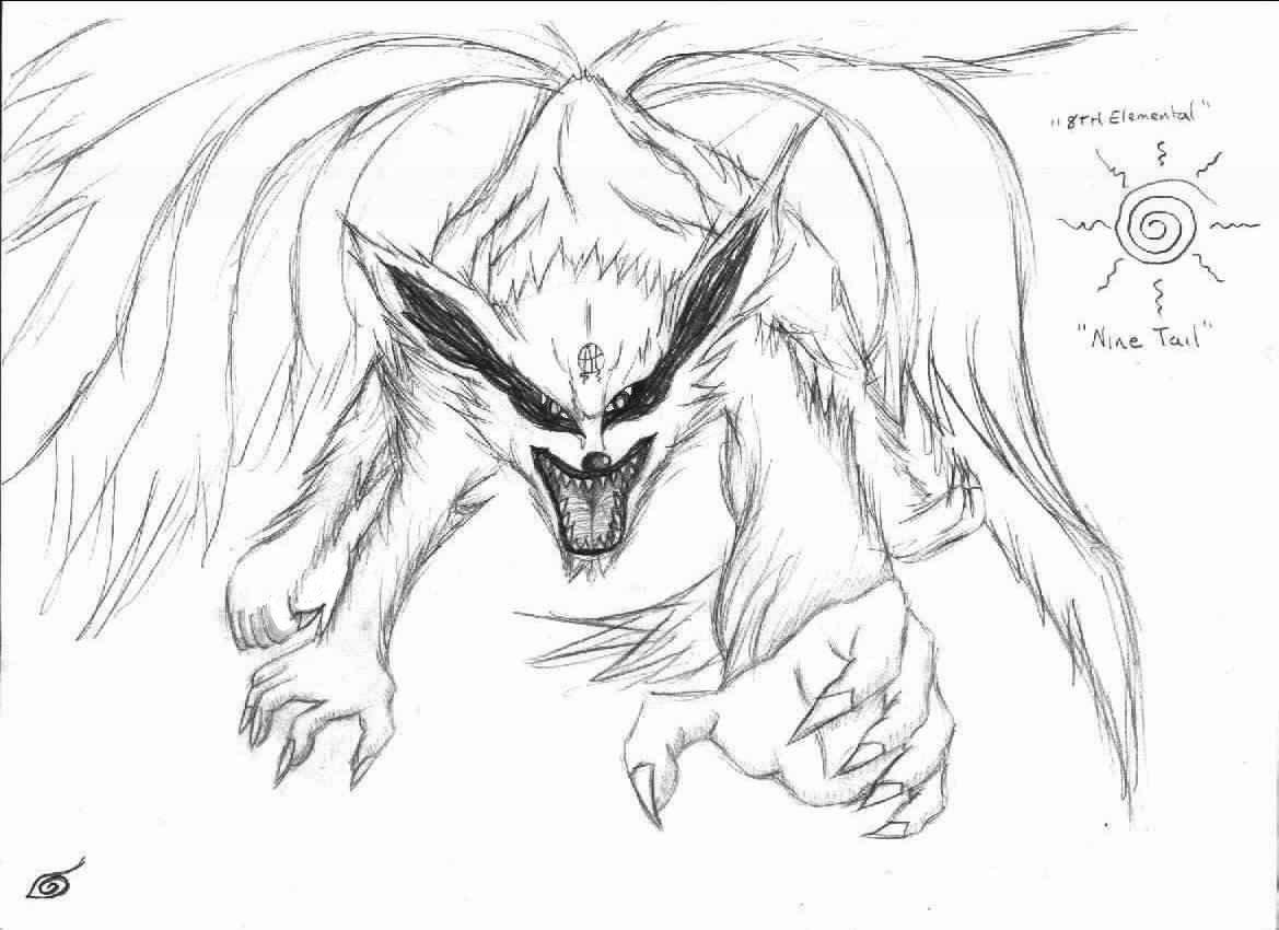 1169x850 Naruto Nine Tailed Demon Fox By Lord Seth