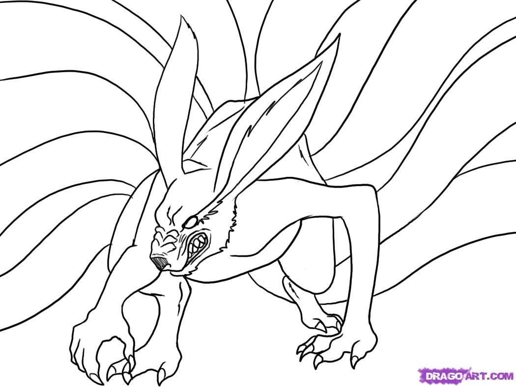 1050x788 Nine Tailed Fox Drawing