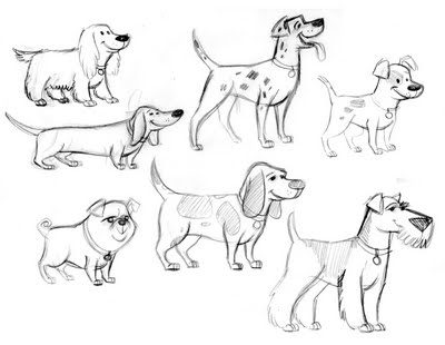 400x310 Dog Drawing Arts Photo Dogs Wallpapers Backgrounds Animation