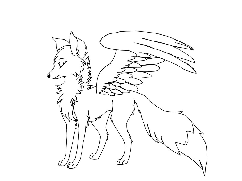 1024x768 Sneak Peek Winged Arctic Fox By Redbeltwolf