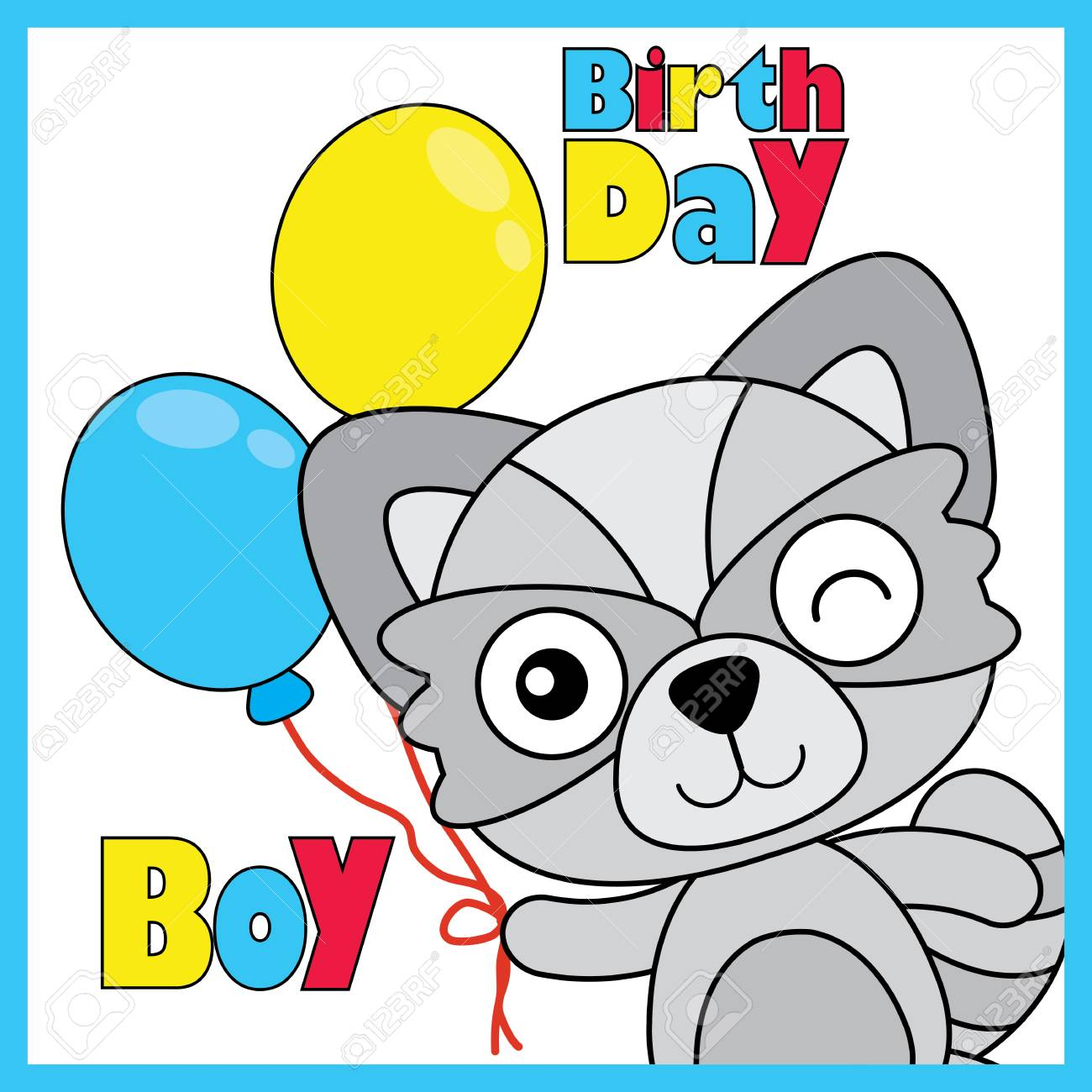 1300x1300 Vector Cartoon Illustration Of Cute Fox Boy Brings Colorful