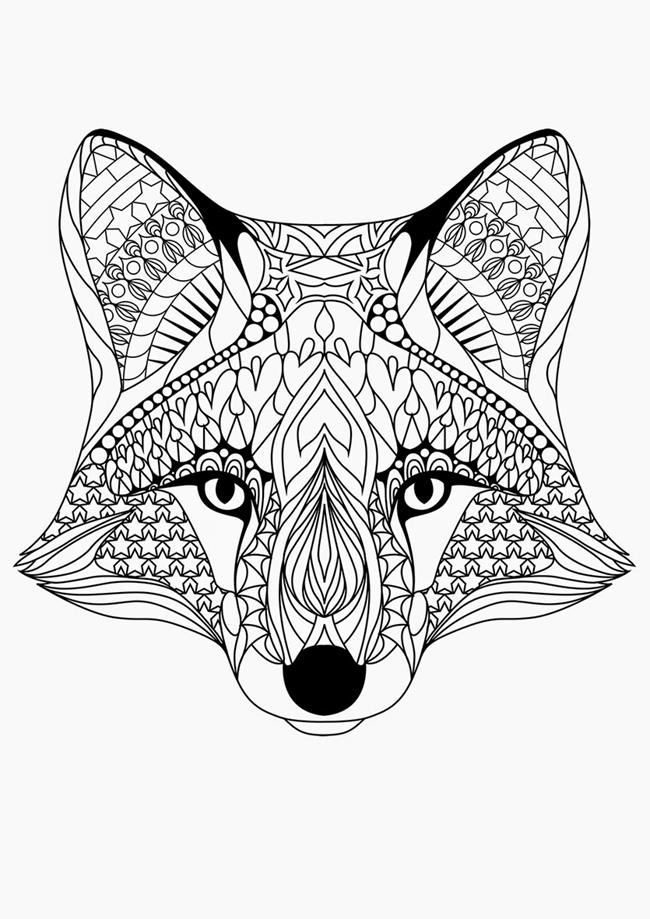 650x919 Fox Coloring Pages For Adults Just Colorings