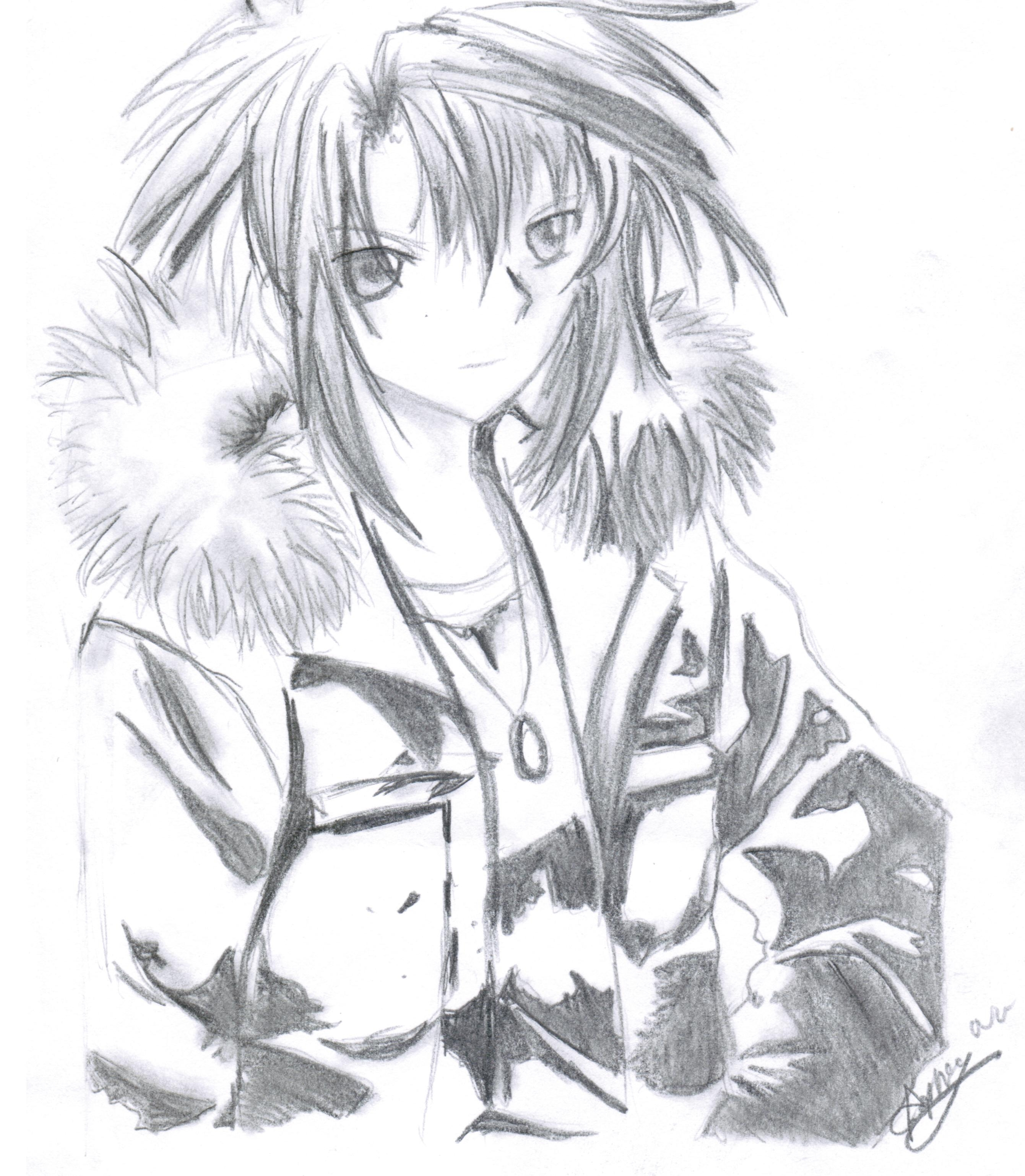 2681x3076 Anime Boy In Fur Jacket By Mangafox23