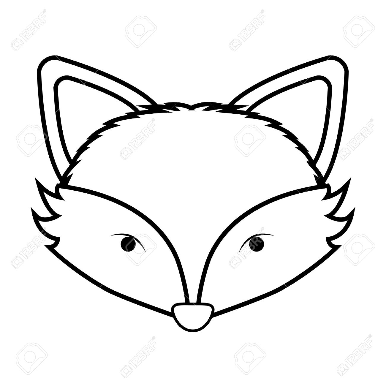 Fox Face Line Drawing : Fox face drawing at getdrawings free for personal