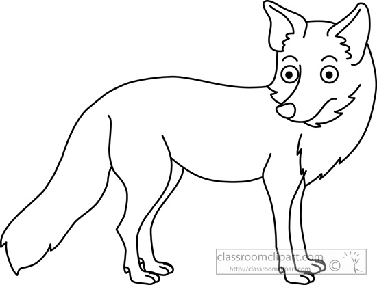 550x417 Fox Clipart Black White Fox Black White Cute Fox Black