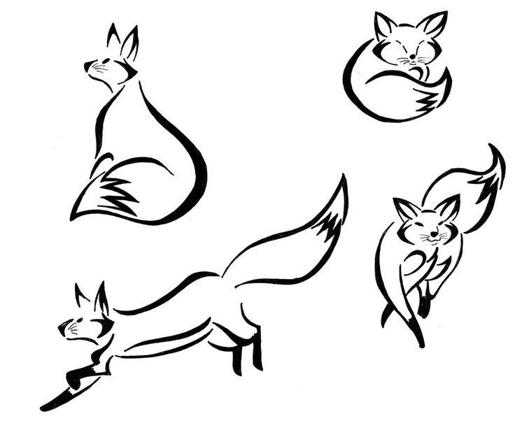 Fox Tattoo Drawing