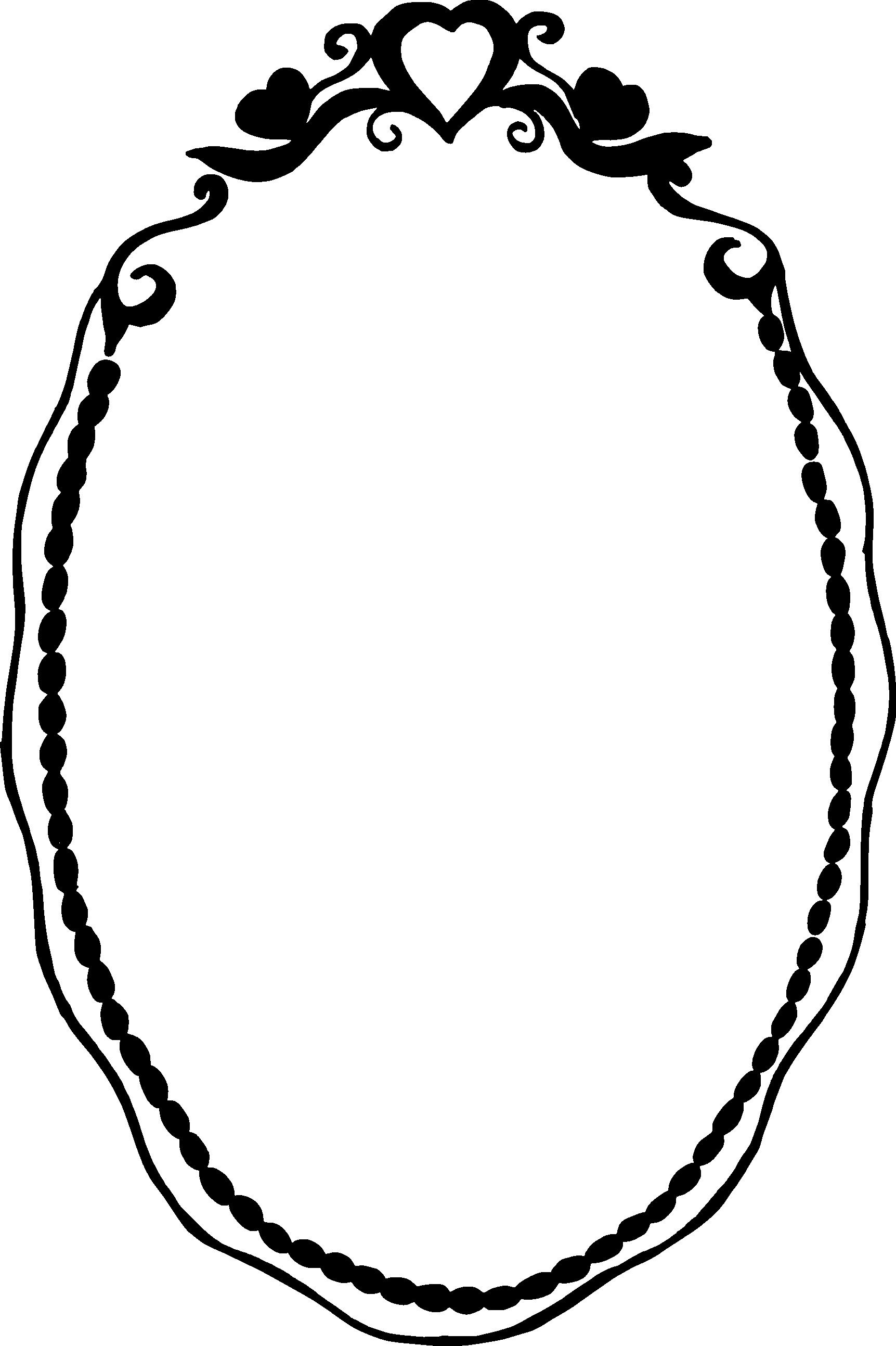 1723x2587 10 Love Romantic Oval Frame Vector (Svg, Png Transparent