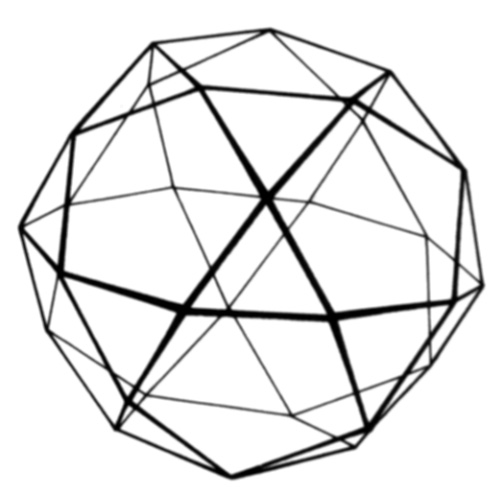 503x494 Icosidodecahedron Wire Frame Drawing