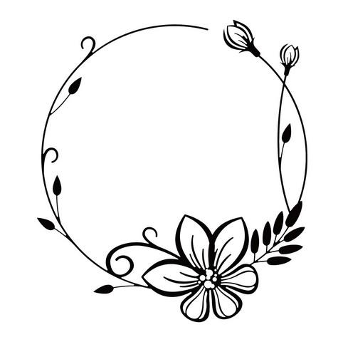 482x480 Nellie`s Choice Emb.folder Round Flower Frame Efe023 130x130mm