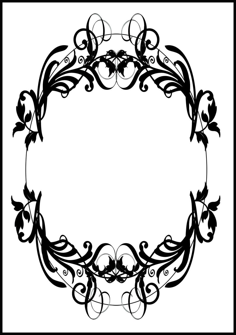 997x1417 Printable Borders And Image Frames