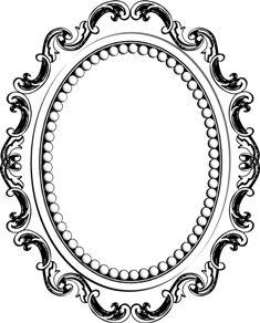 235x292 Line Drawing Mirror Frame Clipart Panda