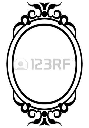 312x450 Drawn Mirror Mirror Frame