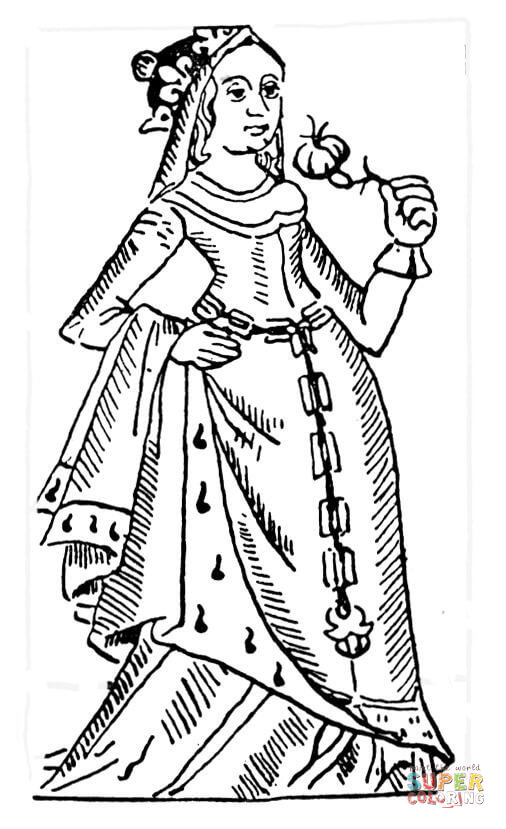 506x829 French Queen Coloring Page Free Printable Coloring Pages