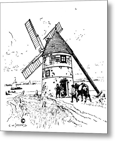 490x600 New France Grain Mill Drawing By Granger
