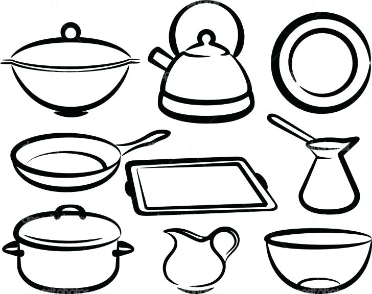 728x576 Tools Coloring Pages Kitchen Ideas Utensils Drawing Sketch