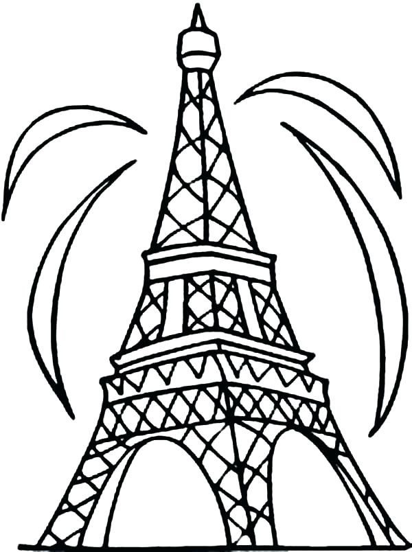 600x804 Eiffel Tower Coloring Pages Seine And Tower More Coloring Pages