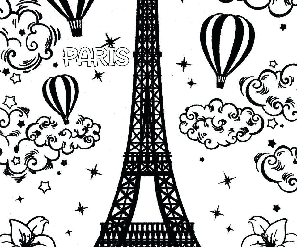961x800 Eiffel Tower Colorings Coloring Pages General Paris Printable High