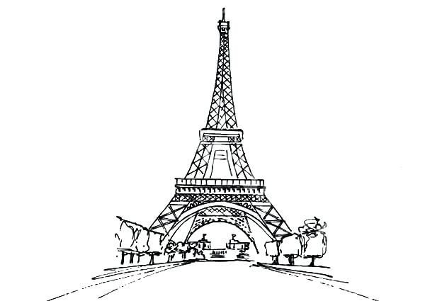 600x425 Emejing France Eiffel Tower Coloring Page Pictures