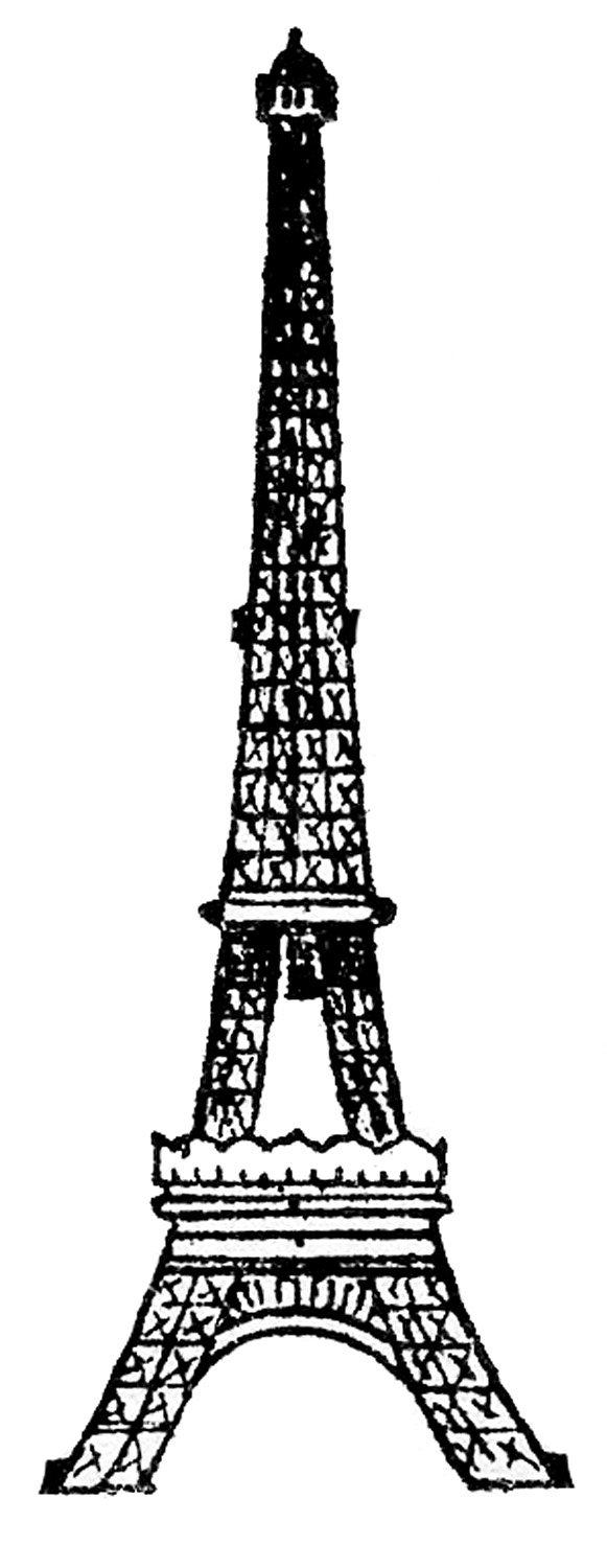 581x1500 Image Titled Draw The Eiffel Tower Step 2. Historic Structures