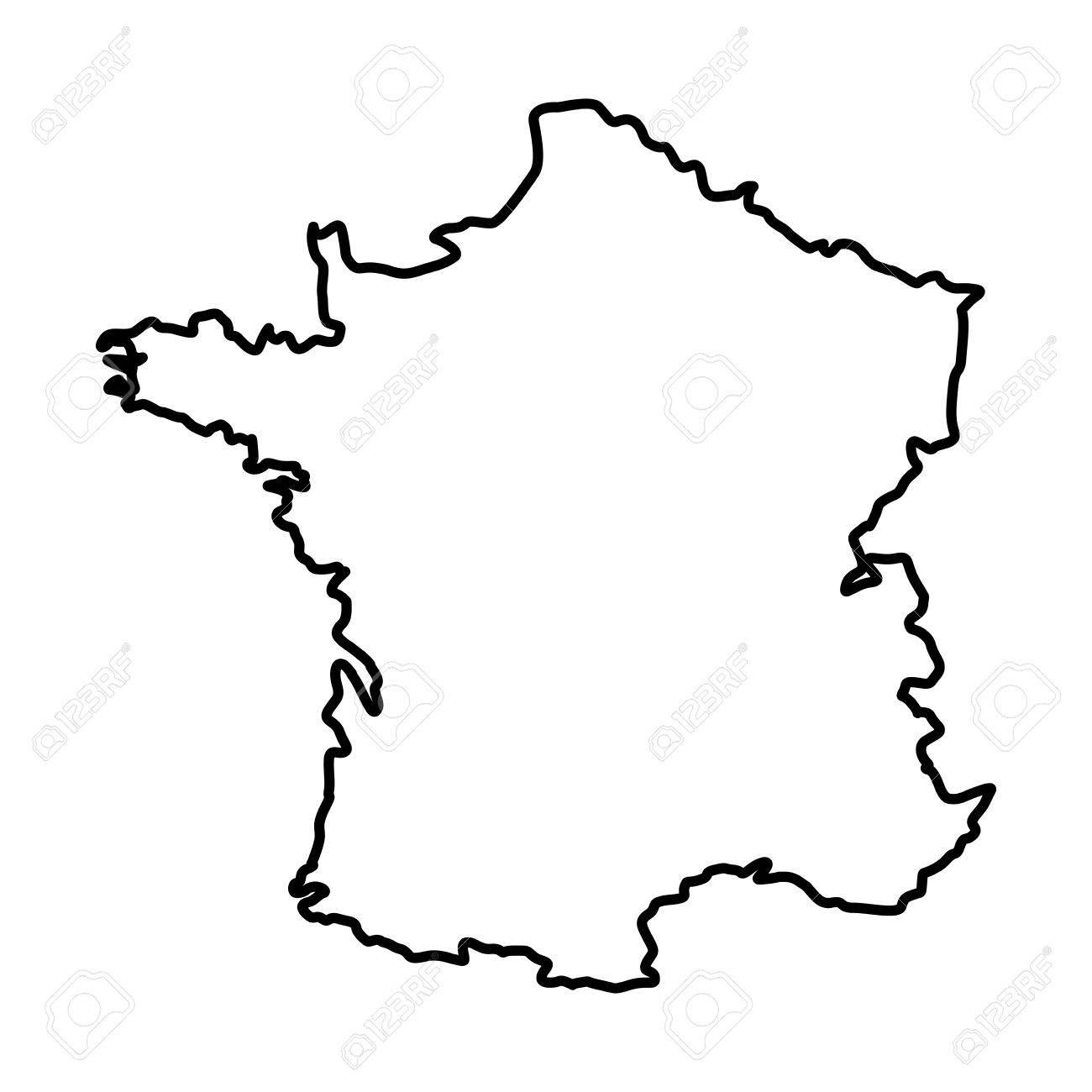 1300x1300 France Map Silhouette Icon Vector Illustration Graphic Design