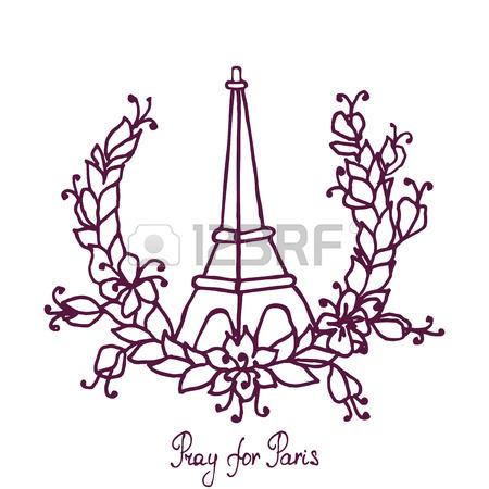 450x450 Illustration Of Eiffel Tower ,peace Symbol Icon On France Flag