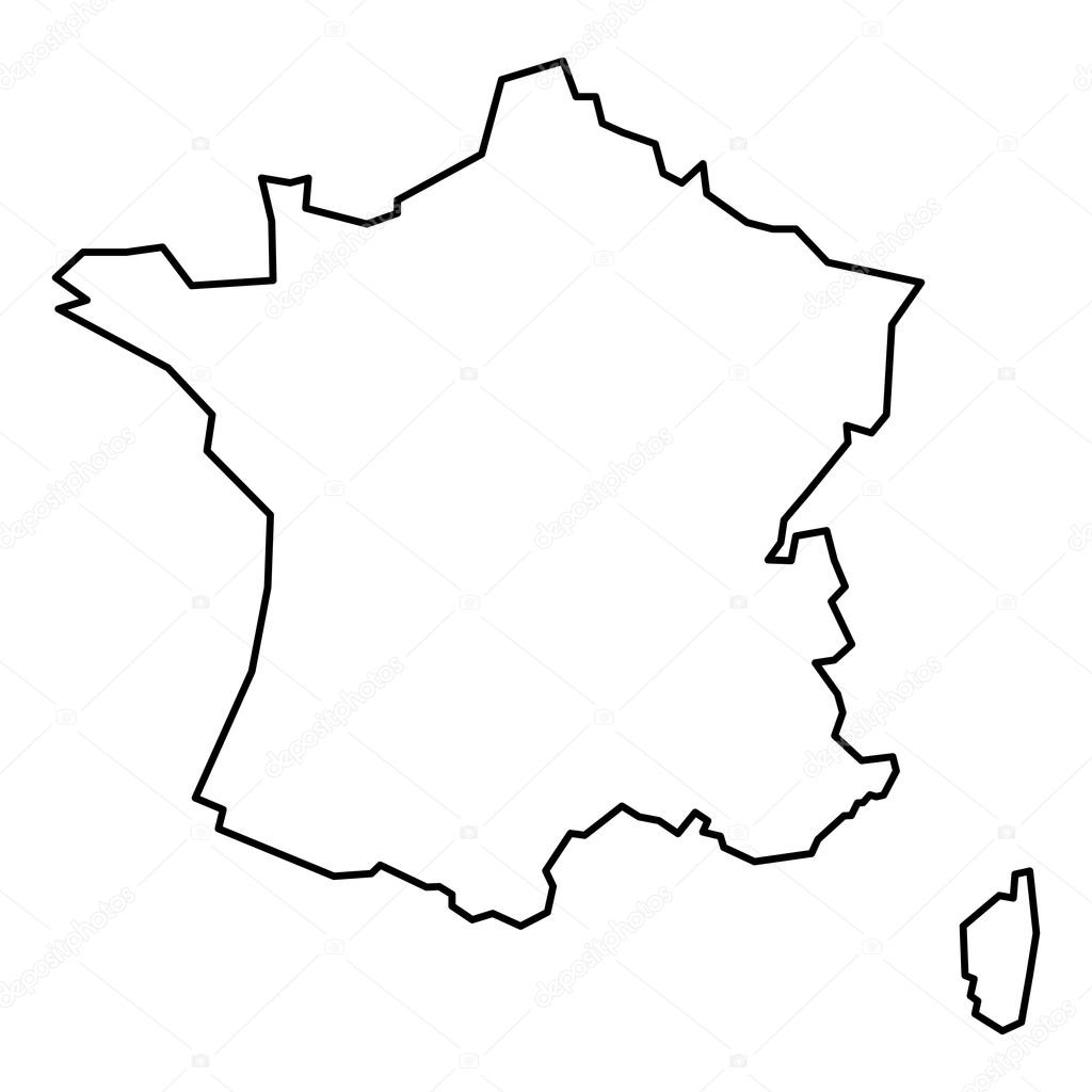 France Map Drawing
