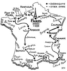 236x251 France Itinerary Map France France And Road Trips