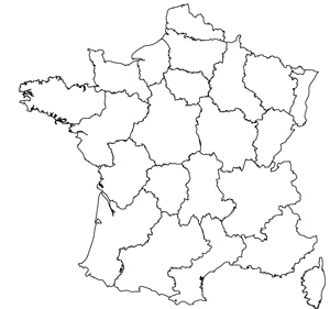 300x281 Maps Of The Regions Of France