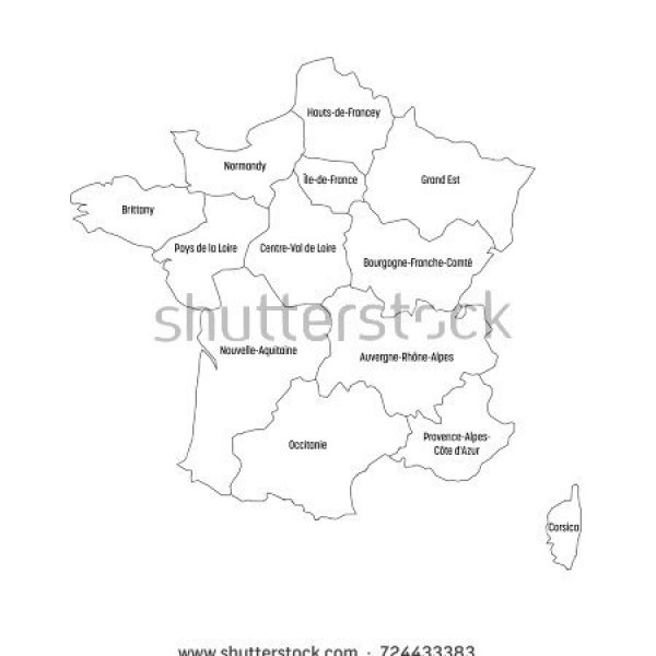 600x600 Outline Map Of France Image Map Of Usa