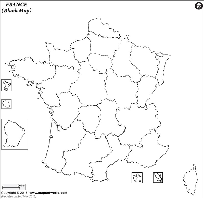 800x778 Blank Map Of France France Outline Map