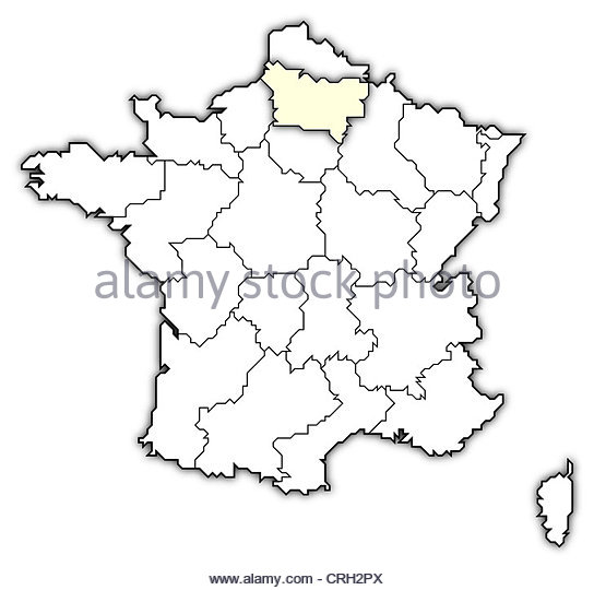 544x540 Picardy France Europe Map Cut Out Stock Images Amp Pictures