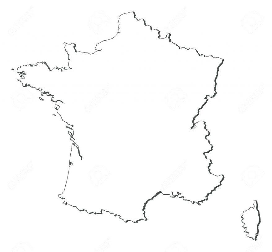 878x812 Coloring Appealing France Map Outline. France Map Outline