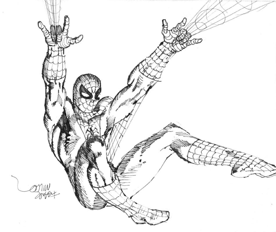 949x800 Frank Miller Spiderman Sketch 1979, In Neil Mechem's Comic Art