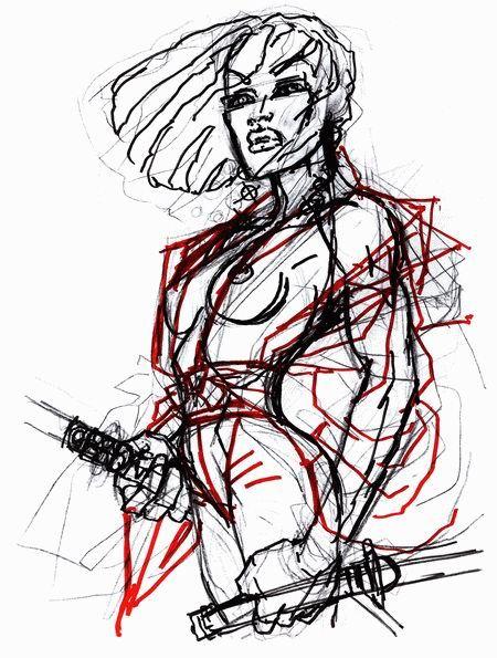 450x595 A Sketch By Frank Miller Art Frank Miller