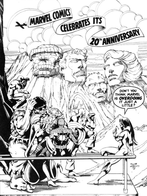 500x664 Marvel 20th Anniversary By Frank Miller And Terry Austin
