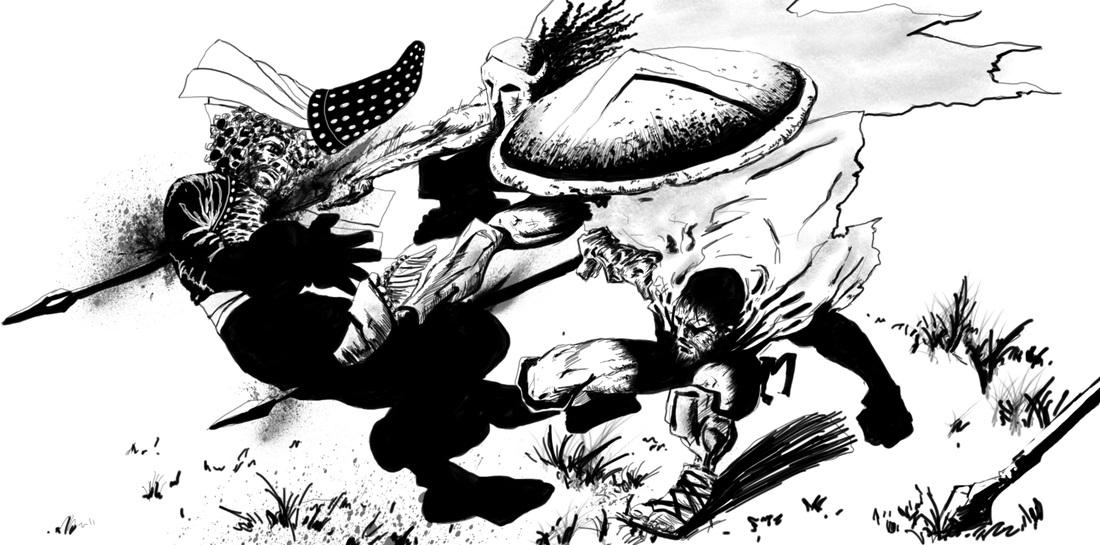 1100x545 Frank Miller Drawings