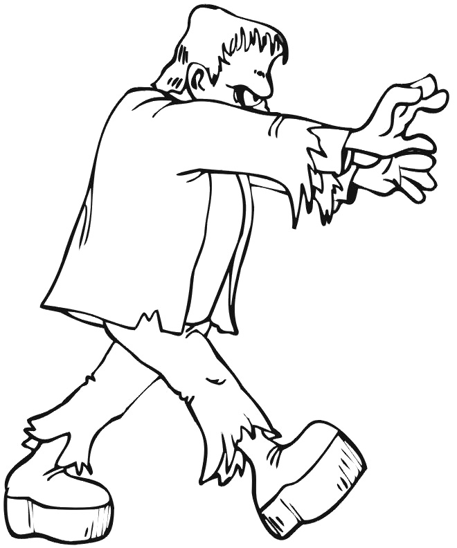660x792 Ghost Frankenstein Coloring Pages