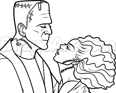 frankenstein face drawing at getdrawings com free for personal use