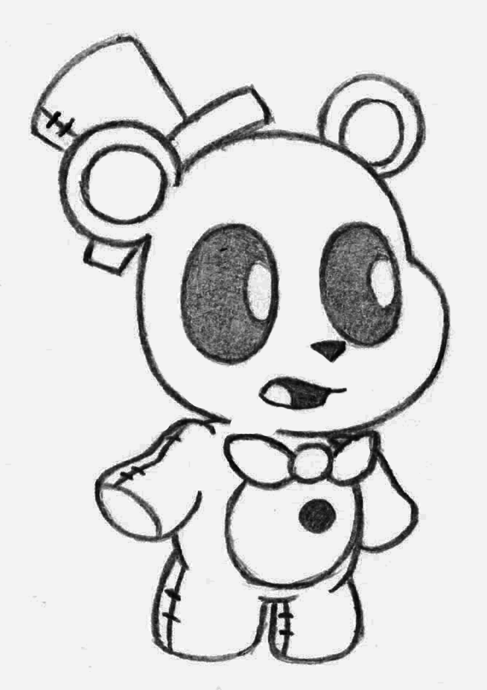 1649x2337 B0vgsoyjpg Draw Nightmare Freddy Fazbear Five Nights