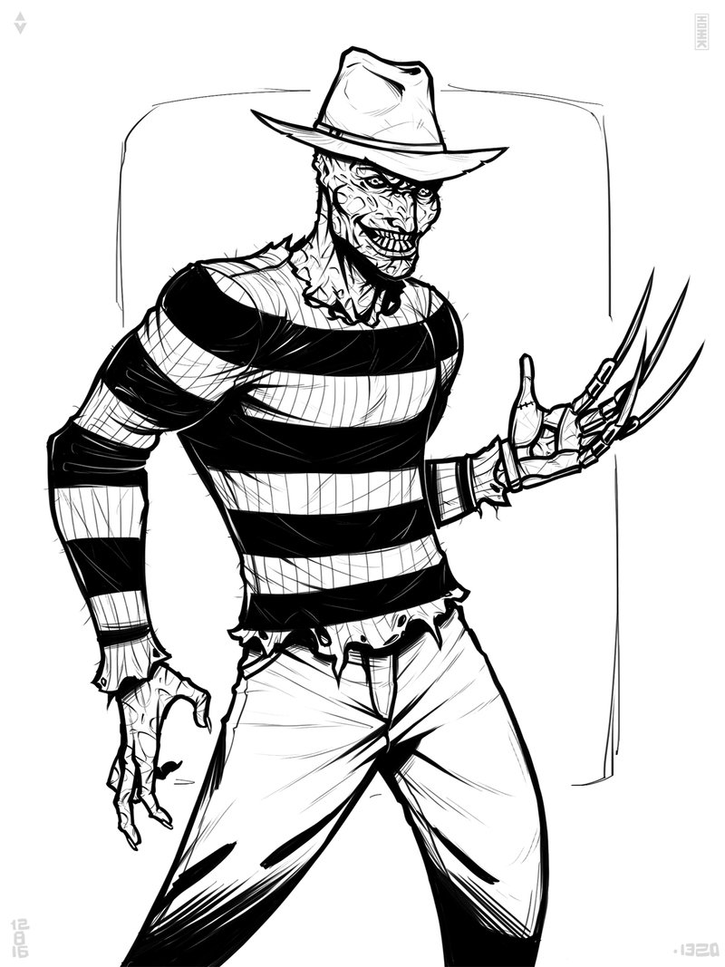 Freddy Krueger Drawing