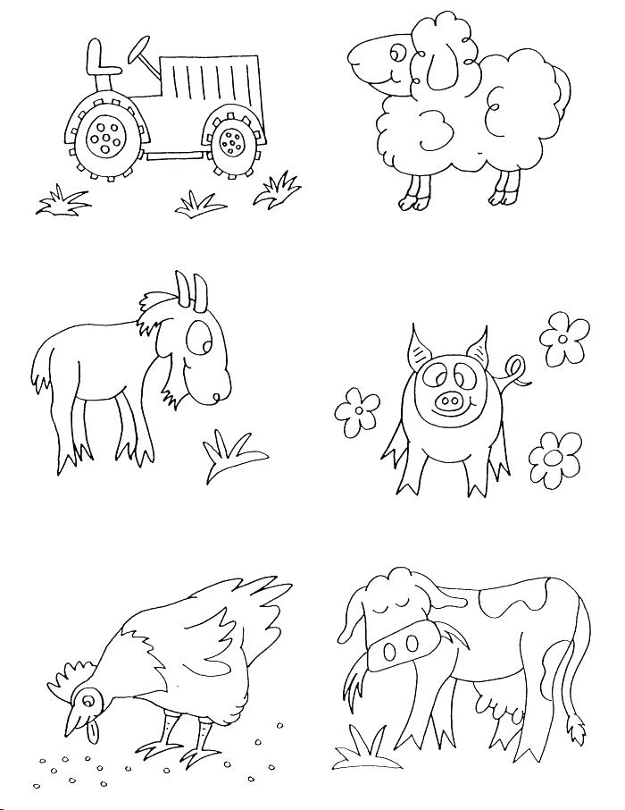700x906 Farm Pictures To Print Barnyard Animals Coloring Pages Coloring