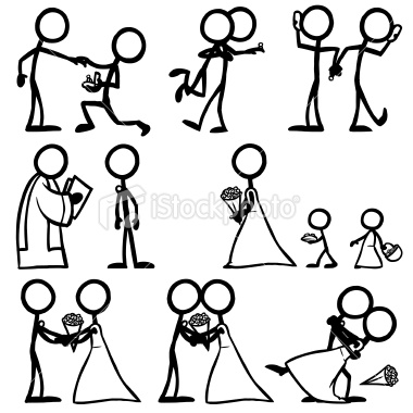 380x380 Stickfigures, Performing The Proposal, The Acceptance, The Phone