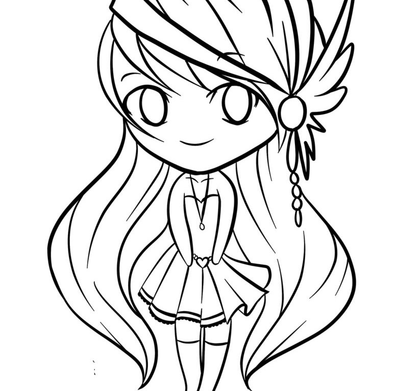 774x768 Cute Coloring Pages Of Anime Animal Free Printable Cartoons