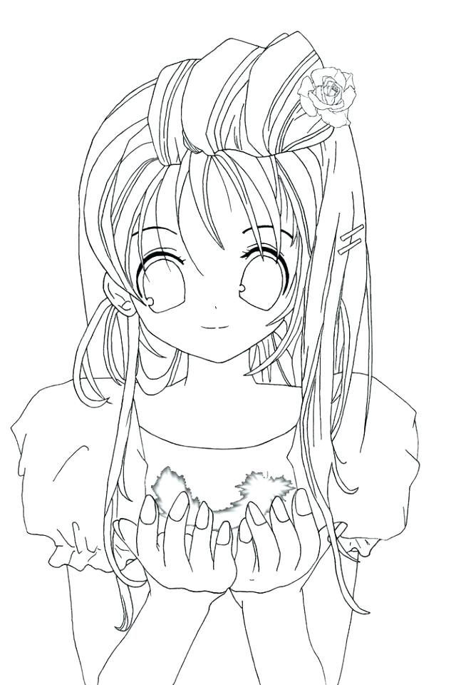 640x960 Anime Color Pages Cute Anime Coloring Pages To Print Cute Girl