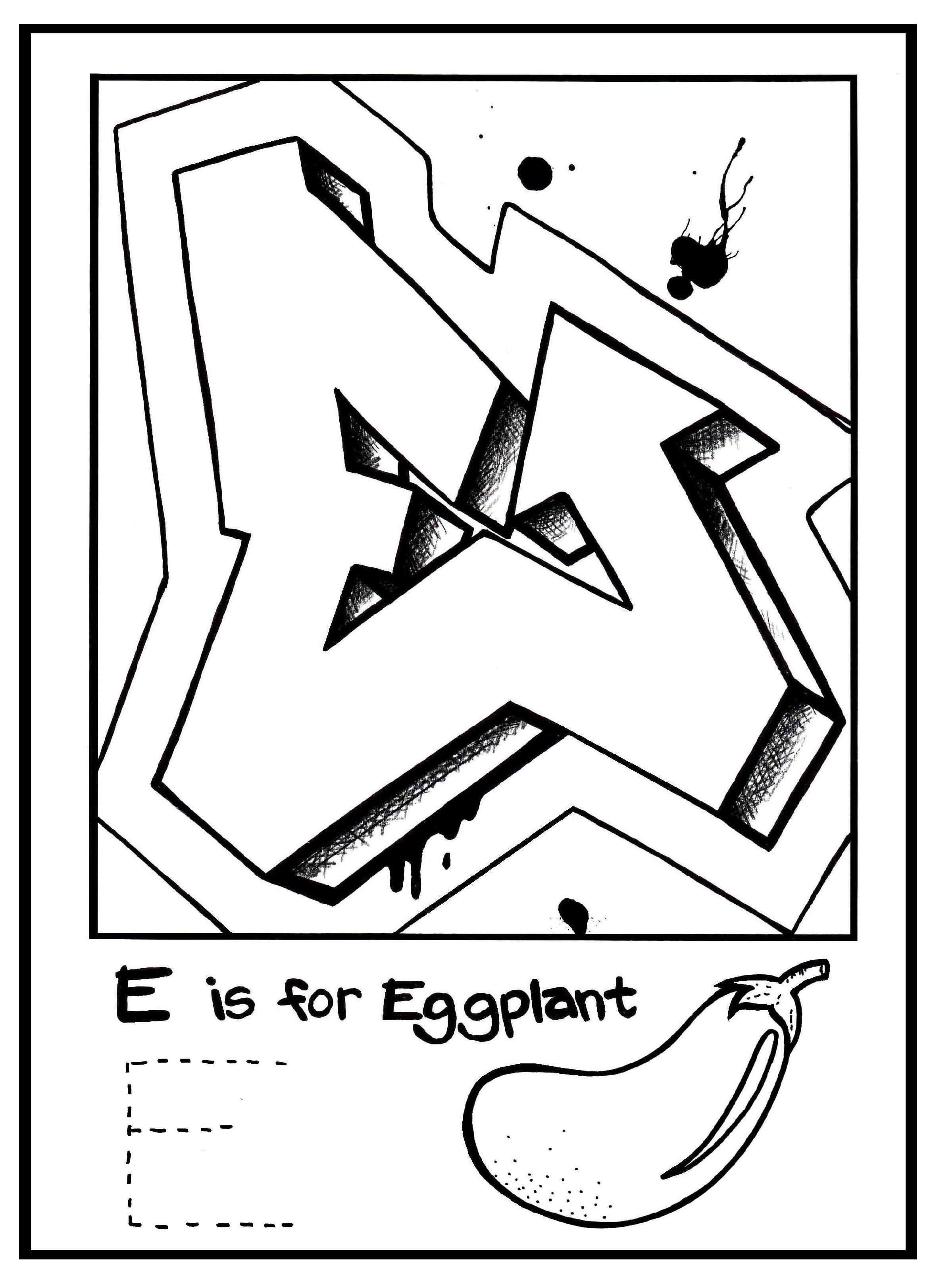 2346x3246 G IS For Graffiti Alphabet Coloring Book Free Page