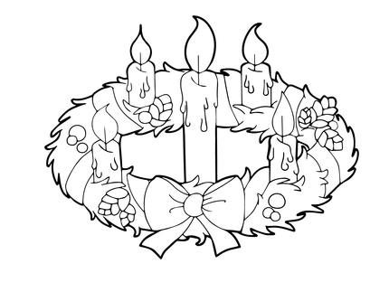 430x323 Advent Wreath Drawing Images Christmasadvent