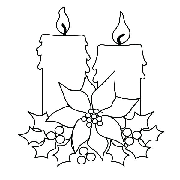 600x600 Candle Coloring Pages Candles Coloring Pages Candle For Decorating