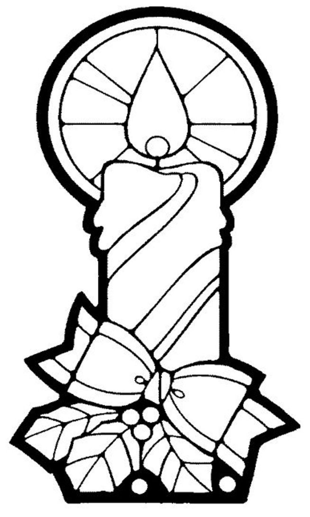 1020x1700 Christmas Coloring, Candle Free Christmas Coloring Pages Candle