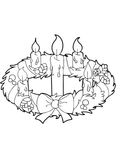 371x480 Advent Wreath And Candles Coloring Page Free Printable Coloring