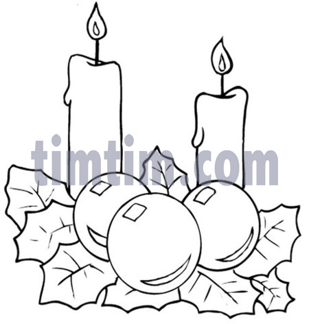 450x472 Free Drawing Of 2 Christmas Candles From The Category Christmas